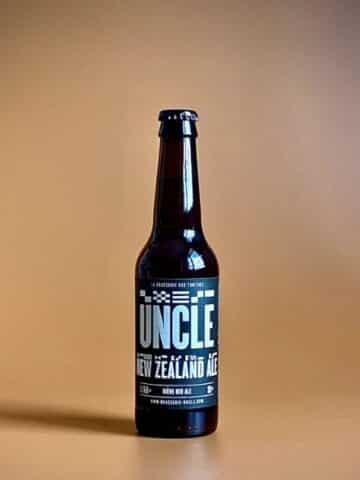 Photo d'une bouteille de bières Ice de 33 cl teinte ambrée