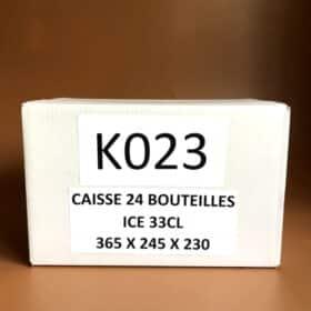 Photo d'une caisse de 24 bouteilles de 33 cl
